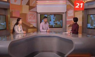 Участники проекта «Старт ап — Школа жизни» в программе «Вовремя лайт» телекомпании ТВ-21